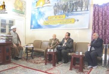 مسؤول لجنة الارشاد والتعبئة يستقبل مساعد رئيس جامعة الكوفة الدكتور حسن الزبيدي لفتح آفاق التعاون الثقافي المشترك